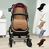 Miracle Baby Cojín Carro Bebe,Colchoneta Silla Paseo Universal,Cojín Silla de Paseo para el Cochecito y Asiento de Carro, Funda de asiento de bebe, 35x78cm