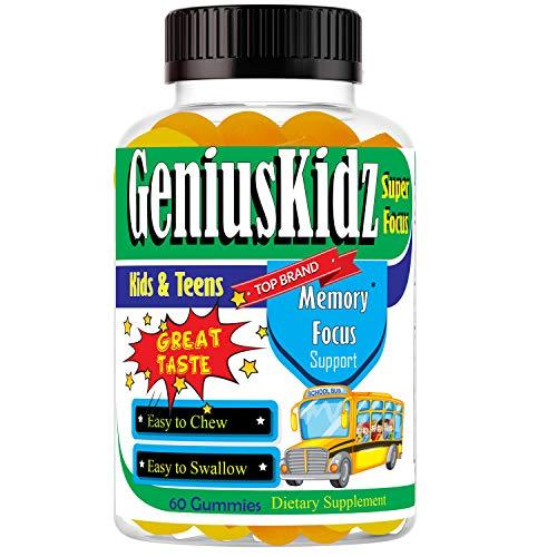 Kids Brain Focus Formula Health Supplements Omega 3 Gummies for Kids & Teens, Kids Multivitamin Gummy with Fish Oil EPA & DHA, Chewable Brain Booster Vitamins for Teens