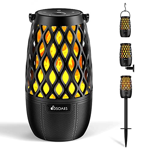 DBSOARS Bluetooth Speaker, Outdoor Torch Light Speaker, Multi Sync Up to 100 Speakers, Portable Wireless Party Gift Atmosphere LED Flame Speaker for Home Decorations Garden Patio, Pole/Wall Mount/Hook