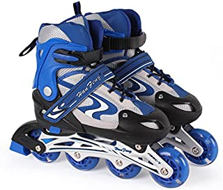 Jilani Inline Skate Shoes Adjustable Size 38 to 42 Blue M Size Age 10-14Years