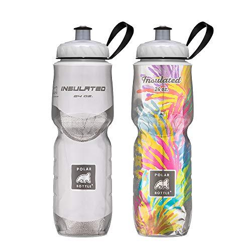 Polar Bottle Insulated Water Bottle 24oz (2 Pack), White/Starburst, 24 oz