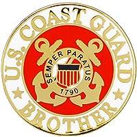 "U.S. COAST GUARD, COAST GUARD BROTHER LOGO - Original Artwork, Expertly Designed PIN - 1"""
