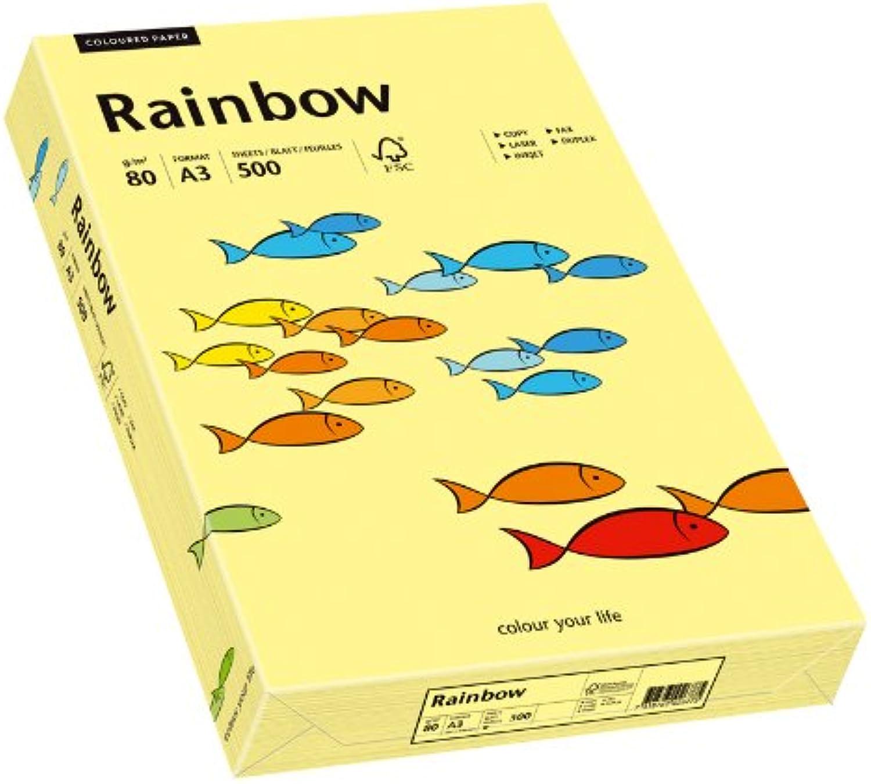 Papyrus Multifunktionspapier Rainbow, DIN A3, A3, A3, 80 g qm, hellgelb, 500 Blatt, 5er Packung B0752FKPYW  | Heißer Verkauf  b69849