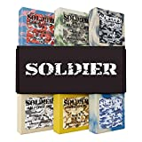 SOLDIER Men's Bar Soap – 100% All Natural, Masculine Scents, Essential Oils, Organic Shea Butter, No Harmful Chemicals – (6pk) Natural Soap Bars for Men - Made in USA - Man Soap, Mens Body Soap, 5 oz