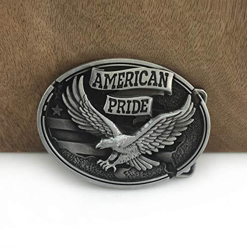 MAODA Retro American Pride Eagle Gürtelschnalle Western Jeans Geschenk Gürtelschnalle Zinn Beenden SieEIN Geschenk für Freund