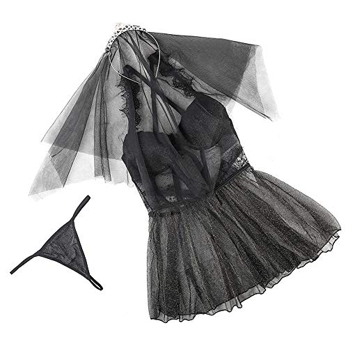 Yifuty Uniforme de Novia Traje, Vestido de Negro Boda, Primavera y Verano...