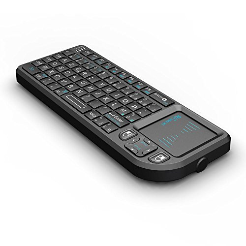 Rii Mini Clavier K01X1 sans Fil(AZERTY) 2,4 Ghz avec Touchpad pour PC, Pad, Xbox 360, PS3, TV Box Google Android, HTPC, IPTV. …