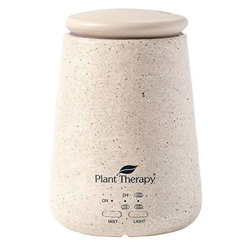 Plant Therapy TerraFuse Essential Oil Diffuser - Cream, Five Settings, Modern, Stylish, Powerful, Auto Shut Off