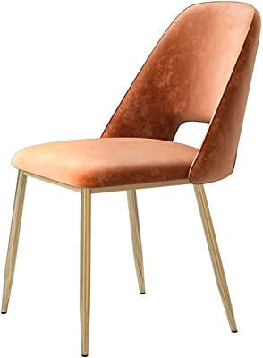 Restaurant Chairs Modern Simple Velvet Fabric Leisure Dining Chairs Classic Kitchen Chair with Golden Metal Legs Makeup Chair Kitchen/Cafe/Office