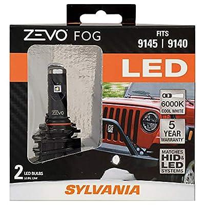 SYLVANIA ZEVO 9145 LED Fog Light Bulbs, (Contains 2 Bulbs)