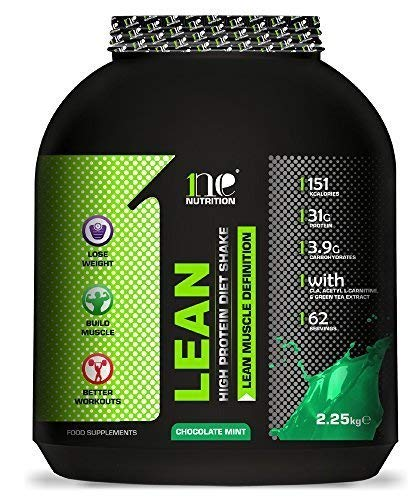 1ne Nutrition Lean Diet Fuel 2.25kg Ultralean Weight Control Meal Replacement Shake Protein Powder (Chocolate Mint)