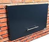 anytime-box - faltbarer, sehr flacher und dezenter Paketkasten anthrazit RAL 7016 - Paketbriefkasten für große Pakete bis 52 x 38 x 36 cm - 3