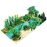 LOSGO Forêt Tropicale Paysage Botanique avec Plaque pour Lego Cabane Arbre, Aventure Jungle