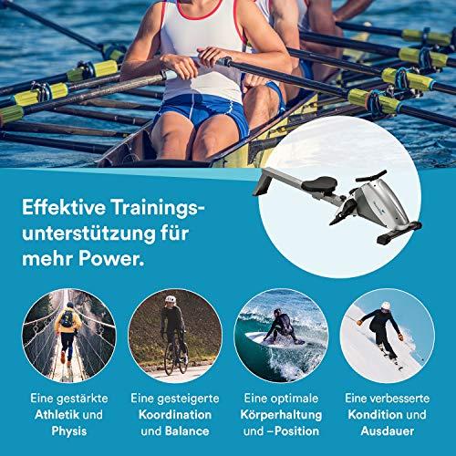 skandika Rudergerät Regatta Multi Gym Poseidon/Oxford, Geräusch-/Wartungsarmes Bremssystem über Polyfiber Zugsystem, zusammenklappbar, Multifunktionstrainingscomputer - 7