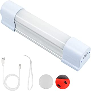 LETOUR LED Tube Magnetic Light Bar Work Lights 2000 Lumens 5 Lighting Options Camping Lantern USB Rechargeable Portable Battery Powered Lights with 2 Magnets Endurance for 40 Hours