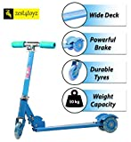 Zest4Toyz Skate Scooter for Kids with 3 Wheels and 3 Position Adjustable Height
