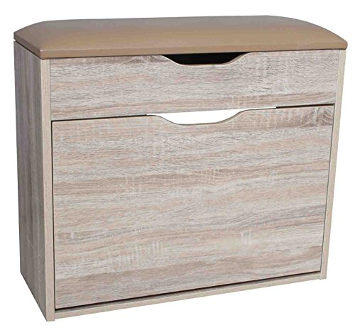 Zitbank kast bank schoenenbank schoenenkast gang commode kast eiken decor