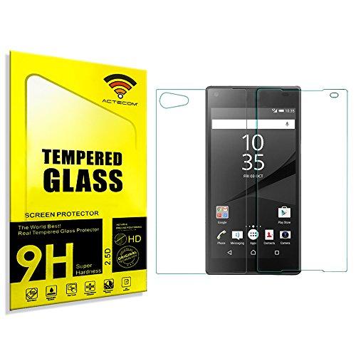 cogac ACTECOM® Cristal Templado Doble 0.2MM para Sony Xperia Z5 Compact Mini Delantero Trasero