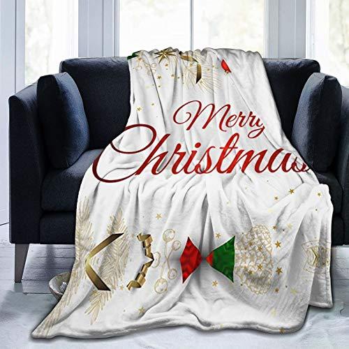 Merry Christmas Santa Claus Throw Blankets Snowman Tree Throw Blanket Ultra-Soft Micro Fleece Blanket Microfiber Blanket,Luxury All Seasons Warm Blanket for Bedding Sofa
