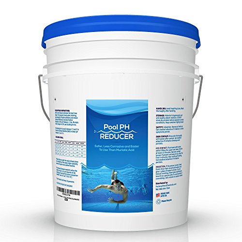 Pool & Spa pH Reducer | pH Down | Sodium Bisulfate | Muriatic Acid Replacement - 25 lb Pail