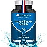 Magnésium Marin et Vitamine B6 - Jusqu'à 300 mg/jour -120 gélules d'origine végétales jusqu'à 4 mois de cure -...