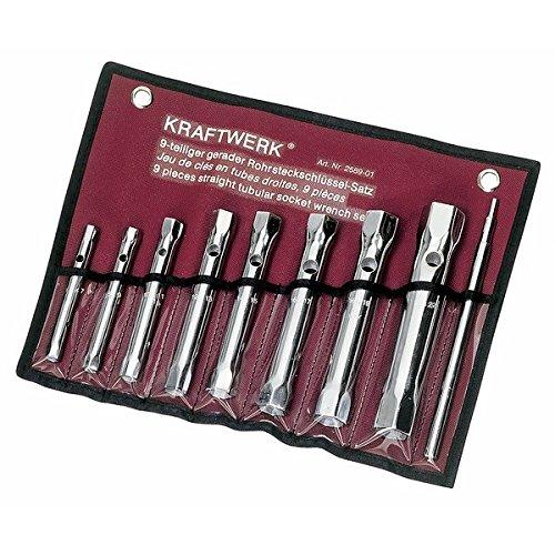 Preisvergleich Produktbild Kraftwerk 2589-01 9-teilig RohrSteckschlüsselsatz 6-22 mm+Stift