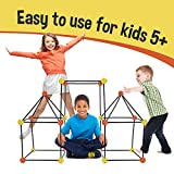 Matchaccino Construction Fort Building Kit - 77 Pieces with Storage...