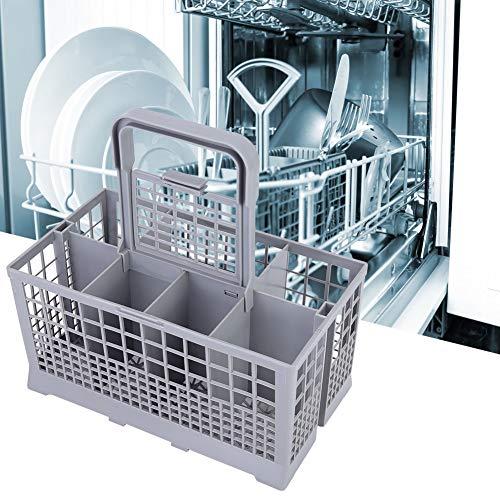 Changor Cesta de Cubiertos, Lavavajillas Universal Durable Silaterátil Lavavajillas Almacenamiento de vajillas de plástico Cesta de Cubiertos Universal para Zanussi