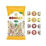 Fida Bonelle Gominola Natural- Fruta Italiana, Sabores Surtidos, Bolsa De 1,2 Kilos