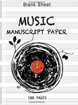 Blank Sheet Music Notebook music books for Music with chords: Wide Staff Manuscript Paper Notebook: 6 Large Staves Per Page (8.5