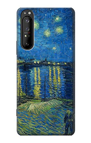 R3336 Van Gogh Starry Night Over The Rhone Case Cover for Sony Xperia 1 II