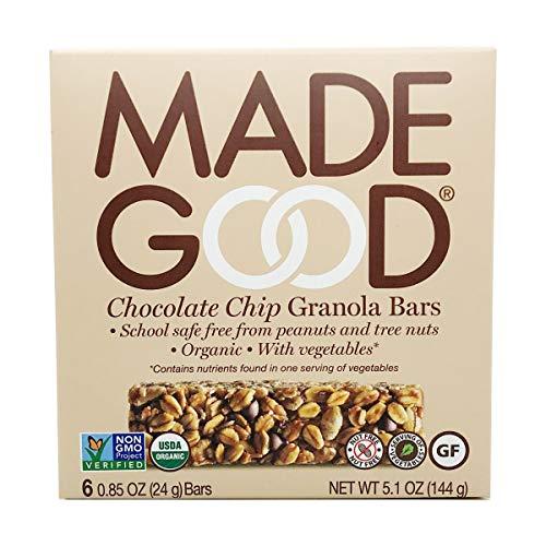 MadeGood Granola Bars, Chocolate Chip, .85oz 6 count, 5.1oz