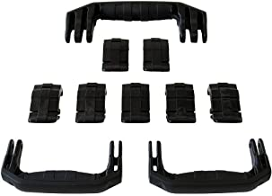 3 Black Replacement Handles / 7 Latches for Pelican 1650. Customize Your Pelican 1650 Case.