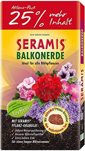 Seramis torffreie Erde, Balkon- und Blumenerde, 731472, Tonfarben, 40 L + 10 L gratis
