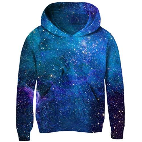 RAISEVERN Brothers and Sisters Weihnachten Hoodie Funny Xmas Galaxy Sweaters 3D Rundhals Langarmshirt gedruckt Sweatshirt12 13 Jahre alt