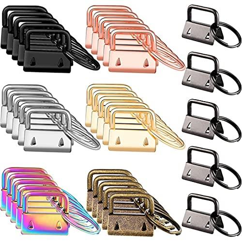 Yousiju 35 piezas de colgante de llavero de hardware, utilizado para llavero de la cadena de muñeca, cordón clave y llavero que hace suministros de hardware (Color : A, Size : One size)
