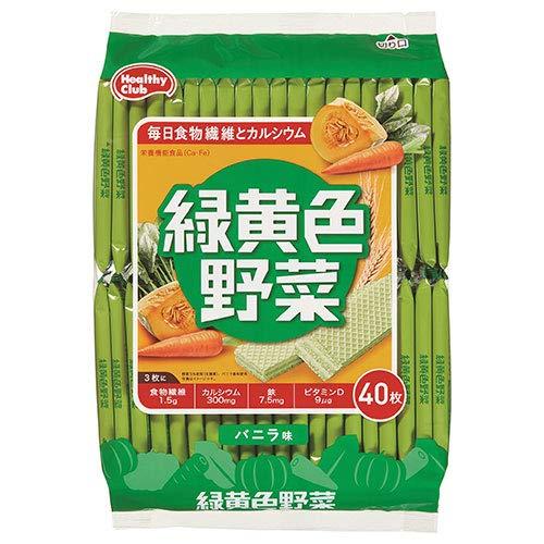 ハマダコンフェクト 緑黄色野菜ウエハース 40枚×10袋入