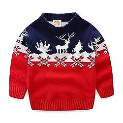 2d9aea357038 Mud Kingdom Boys Christmas Sweaters Xmas Reindeer Clothes