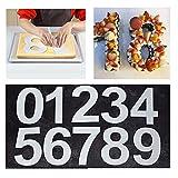 Juego de moldes para tartas de gran número, de 0 a 9 números, para decoración de tartas de frutas y bodas, cumpleaños, 24 cm