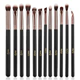 MSQ Eye Makeup <span class='highlight'>Brushes</span> 12pcs Rose Gold Eyeshadow Makeup <span class='highlight'>Brushes</span> Set with Soft Synthetic Hairs & Real Wood Handle for Eyeshadow, Eyebrow, Eyeliner, Blending - Rose Gold(without bag)