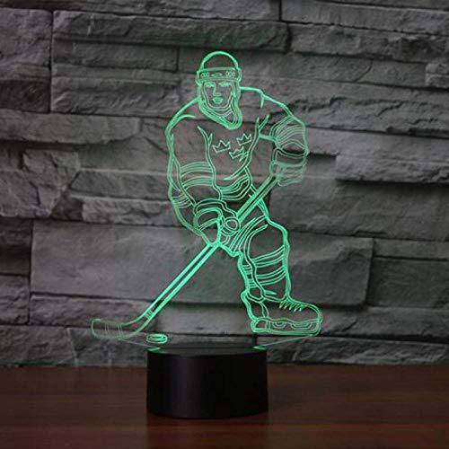 XDOUBAO Boletes de Baloncesto Bolos 3D lámparas de Mesa 7 Color Cambiar Escritorio Lámpara Decoración 3D Pequeña Nocturna-7 Cambio de Color_Interruptor táctil Remoto