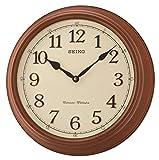 SEIKO QXD214B Westminster/Whittington Dual Chime Wall Clock, Brown, 42 x 42 x 11 cm