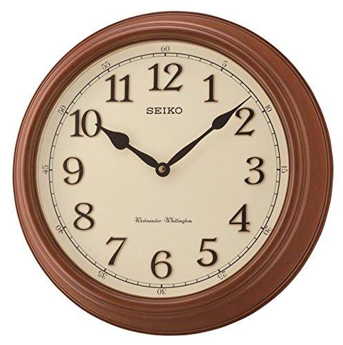 Seiko QXD214B Westminster/Whittington Horloge Murale Double Carillon Marron 42 x 42 x 11 cm