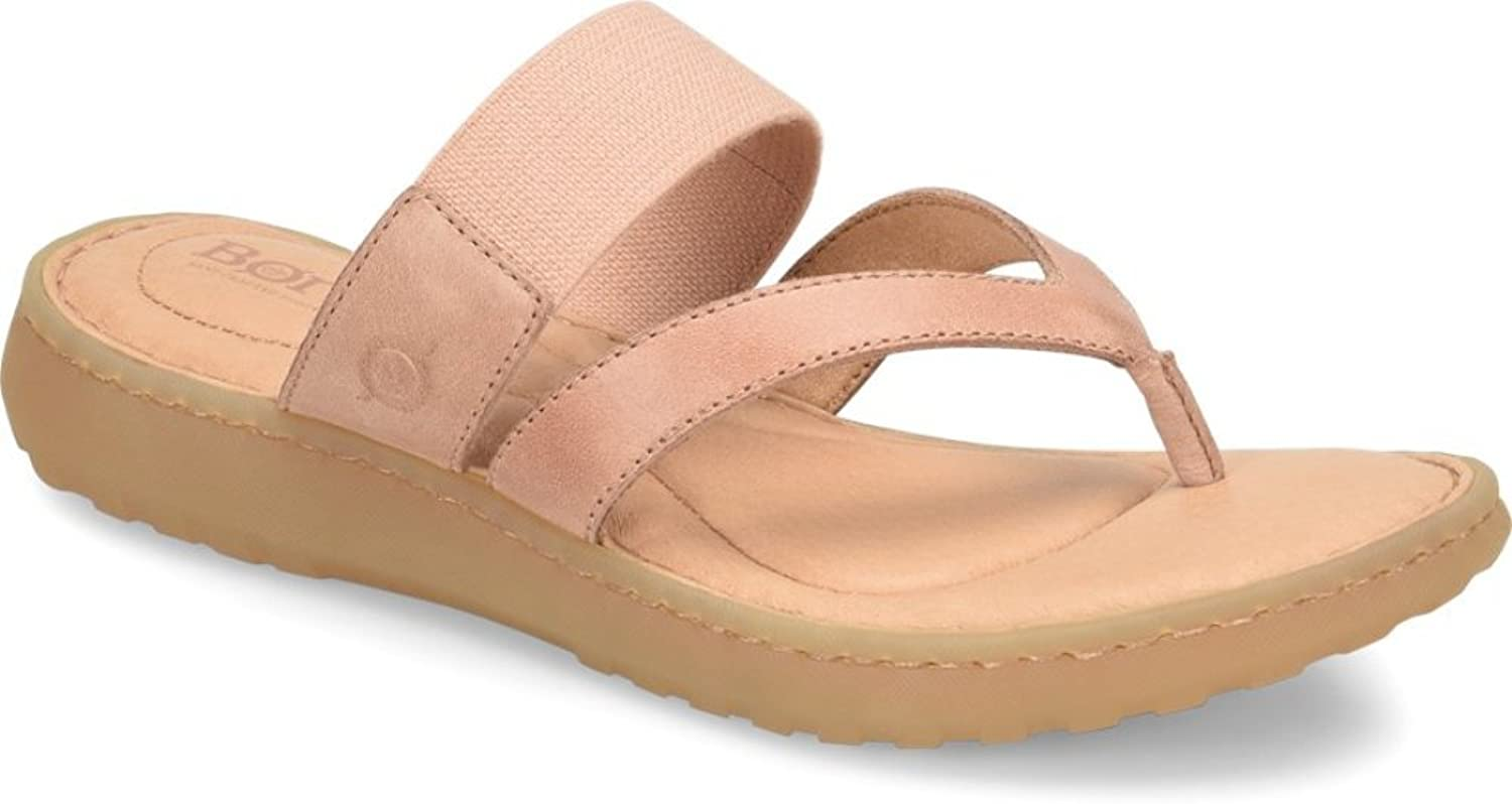 Born Womens Nevis Leather Flats Thong Sandals