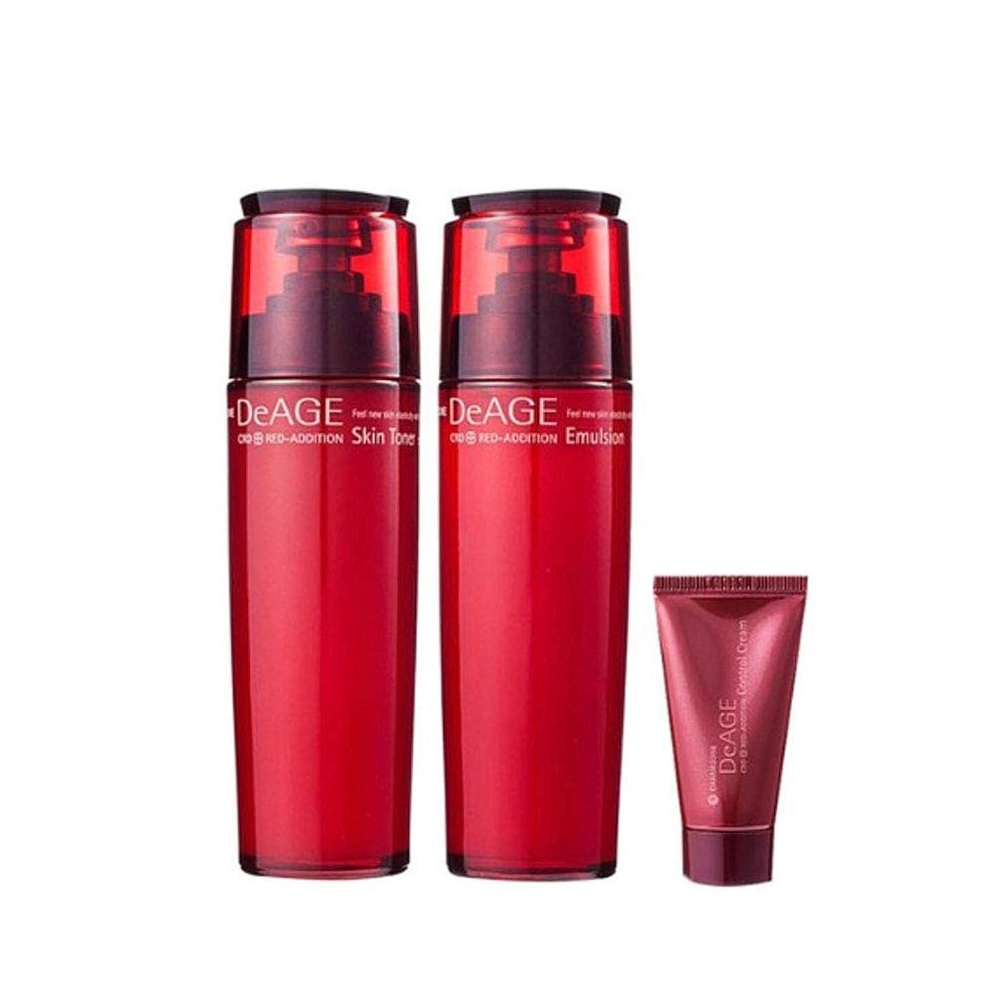 くちばし誘発するジュニアチャムジョンディエイジレッドエディションセット(スキントナー130ml、エマルジョン130ml、コントロールクリーム15ml)、Charmzone DeAGE Red Addition Set(Skin Toner 130ml、Emulsion 130ml、Control Cream 15ml) [並行輸入品]