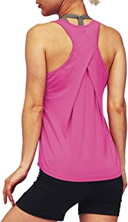 Mippo Workout Tops for Women Athletic Active Wear Tennis Shirt Exercise Tank Top