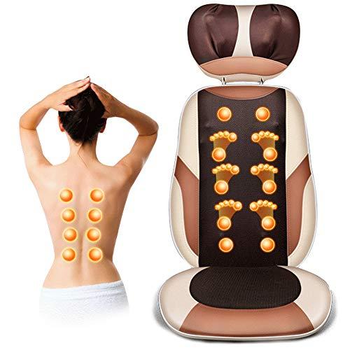 HGJDKSJ Shiatsu massageapparaat rug, massagestoel met verwarming en trillingen voor drukontlasting van rug, schouders en heupen, voor op kantoor thuis