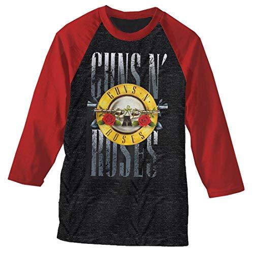 Guns N' Roses Stack Logo Raglan Baseball Shirt, L to XXL