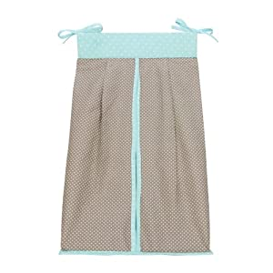Trend Lab Cocoa Mint Diaper Stacker, Taupe