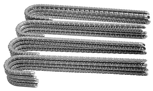 Pinnacle Mercantile 16 Pack Rebar Stakes J Hook Heavy Duty Steel Ground Anchors 12 inch Chisel Point End Made USA